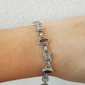 Sterling Silver and Moonstone Bracelet